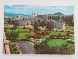Carte Postale : BRUNEI : Sultan Hassanal Bolkiah Aquarium And Churchill Memorial Centre, Stamp In 1989 - Brunei