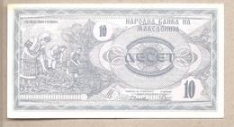 Macedonia  - Banconota Circolata Da 10 Denari P-1a - 1992 - Macedonië