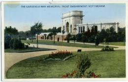 REGNO UNITO  NOTTINGHAM Gardens And War Memorial  Trent Embankment - Nottingham