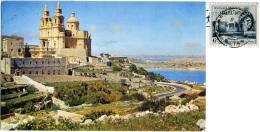 MALTA  MELLIEHA  Church Nice Stamp - Malta
