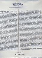 1835 , ASTURIAS , RARO DOCUMENTO DE GRAN TAMAÑO , VOTOS DE ADHESIÓN DE LA PROVINCIA A LA REINA ISABEL II - Documentos Históricos