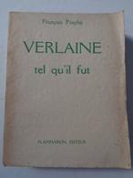 François PORCHE : Verlaine Tel Qu'il Fut,1933, Dédicacé Par L'auteur , 444pages - Autographed