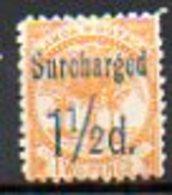 OCEANIE - SAMOA - (Poste Locale) - 1895-1900 - N° 22 - 1 1/2 D. S. 2 P. Jaune - Samoa