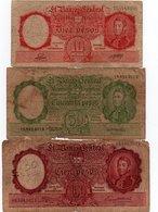 LOTTO ARGENTINA-10,50,100 PESOS-1942,43 P-265,266,267 - Argentina