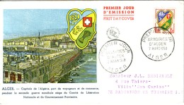 ALGERIE - ALGER - PREMIER JOUR DES ARMOIRIES D'ALGER - 7-3-1959 - Algérie (1924-1962)