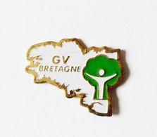 Pin's Carte De Bretagne GV Bretagne - Villes