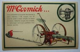 """SUPERBE CPA LIEUSE 7 B """"  MC CORMICK"""",1930,  ,MATERIEL AGRICOLE,TRACTEUR,LIEUSE - Tracteurs"""