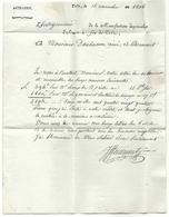 Corrèze - Tulles Pour Clermont. LAC De 1806. MANUFACTURE IMPERIALE D'ARMES A FEU / ARTILLERIE - Marcophilie (Lettres)