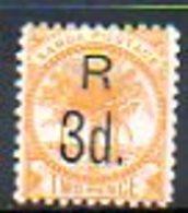OCEANIE - SAMOA - (Poste Locale) - 1895-1900 - N° 27a - 3 D. S. 2 P. Jaune - (Palmiers) - Samoa