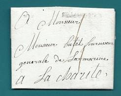Cher - St Amand Mont Rond Pour Un Fournisseur Général De La Marine à La Charité (Nièvre). 1791 - 1701-1800: Precursors XVIII