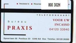 Telefoonkaart  LANDIS&GYR  NEDERLAND * RCZ.800  302H * Bureau Praxis Voor Uw Incasso * TK * ONGEBRUIKT * MINT - Privé