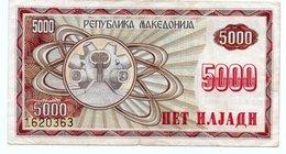 MACEDONIA 5000 DINARA 1992 P-7 - Macedonia
