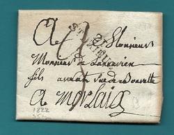 Cotes Du Nord - St Brieuc Pour Morlaix (Finistère). LAC De 1822 - Marcophilie (Lettres)