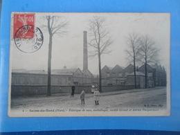 Carte Postale Sains Du Nord Fabrique De Sacs, Emballages, Société Ernest Et Adrien Pecquériaux - Industry