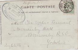 ALGERIE - CONSTANTINE - TYPE BLANC - 5c - LE 15-2-1903 - CARTE POSTALE POUR LA GRANDE-BRETAGNE. - Algeria (1924-1962)