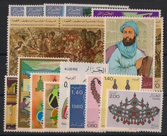 Algérie - Année Complète 1980 - N°Yv. 709 à 726 - Neuf Luxe ** / MNH / Postfrisch - Algérie (1962-...)