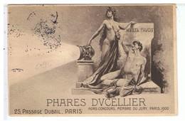 CPA-PUB-1905-PHARES DUCELLIER-STATUE DE FEMME NUE QUI TIENT UN PHARE- - Publicité
