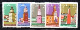 539 - 490 - BULGARIA 1979 ,  Posta Aerea Serie Yvert N. 131/135 **  MNH - Posta Aerea