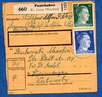 Allemagne - Colis Postal  -  Départ Paulshuben-    - 15/6/1943  - - Alemania