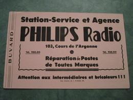 """Station-Service Et Agence PHILIPS Radio - 1à"""", Cours De L'Argonne à BORDEAUX - P"""