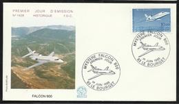 FDC Lettre Illustrée 1er Jour Le Bourget  Le 01/06/1985 Le N°2372 Mysère Falcon 900  TB         Soldé  à Moins De 20 % ! - FDC