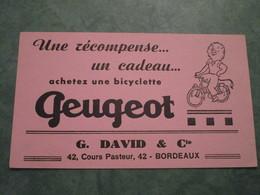 Achetez Un Bicyclette PEUGEOT - G. DAVID & Cie 42, Cours Pasteur à BORDEAUX - Bikes & Mopeds