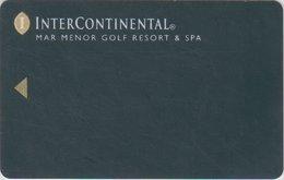 SPAGNA KEY  HOTEL Intercontinental Mar Menor Golf Resort & Spa - TORRE PACHECO ( MURCIA ) - Hotel Keycards