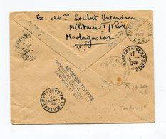 !!! LETTRE DE MADAGASCAR DE 1948 POUR ST PAUL ET AMSTERDAM, GRIFFE AU DOS - Terres Australes Et Antarctiques Françaises (TAAF)