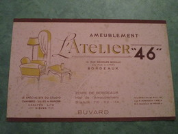 """Ameublement L'ATELIER """"46"""" - 14, Rue Georges Bonnac à BORDEAUX - Buvards, Protège-cahiers Illustrés"""