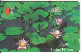 OMAN(GPT) - Lotus Flower, CN : 41OMNE/B(normal 0), Tirage 50000, 02/99, Used - Oman