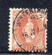 551 - 490 - SVIZZERA 1882, Helvetia Usato Unificato N. 74 - Oblitérés