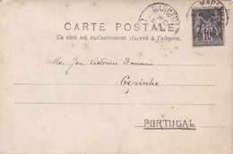 POSTCARD FRANCE 1900 - MARSEILLE To ESPINHO - PORTUGAL - Marcophilie (Lettres)