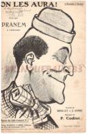 CAF CONC MILITARIA DRANEM PARTITION ON LES AURA BRIOLLET COMBE CODINI ILL POUSTHOMIS PIANO 1909 - Musique & Instruments