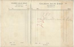 Invoice * Portugal * 10's * Ovar * Colegio Julio Diniz (Sexo Masculino) - Portugal