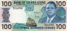 SIERRA LEONE 100 LEONS 1988 P-18 UNC - Sierra Leone
