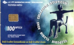 Bosnia - BA-PTT-0036A, 25 Years Of City Gallery ˝Collegium Artisticum˝, 2000, Used As Scan - Bosnia