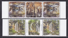 Serbia 2018 European Nature Protection, Sopotnica Waterfalls, Cerje Cave Natural Monument Geology, Middle Row MNH - Serbie
