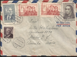 M) 1950 CZECHOSLOVAKIA, S.K. NEUMANN, B. NEMCOVA, P.Q. HVIEZDOSLAV, AIR MAIL, SEAL OF CANCELLATION IN BLACK INK. CIRCULA - Czechoslovakia