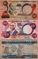 LOTTO NIGERIA 1,10 50 NAIRA 1979,84,01 P-21,23,27 - Nigeria