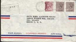 M) 1993 UNITED KINGDOM, QUEEN ELIZABETH II, AIR MAIL, AIR PLANE IN COLOR DARK BLUE, CIRCULATED COVER FROM, UNITED KINGDO - Europe (Other)