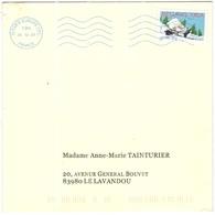 FRANCIA - France - 2005 - Lettre 20g Meilleurs Voeux - Viaggiata Da Paris Per Le Lavandou, France - Francia