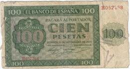 España - Spain 100 Pesetas 21-11-1936 Pick 101a Ref 758-2 - [ 3] 1936-1975: Franco