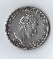 ITALIE - ROYAUME DE SARDAIGNE 5 Lire Charles Félix Roi De Sardaigne 1827 Gênes - Monnaies Régionales