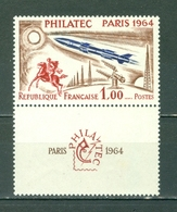 France 1100 Paris Postrider Rocket And Radar Equipment With Label MNH 1964 A04s - France
