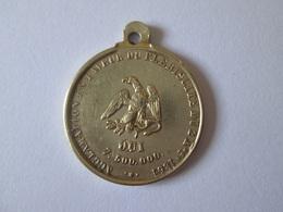 Medaillon Prince(1851-1852)-President(1848-1852) Louis Napoleon Bonaparte 1851,diameter=23 Mm - Medailles & Militaire Decoraties