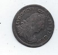 Ludovicus XIII Argent 1673 Quatre Sols Des Traitants Louis XIV - 1643-1715 Louis XIV Le Grand