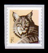 USA, 2012 Scott #4672, Bobcat, SA Single, 1c,  MNH, VF - Ongebruikt