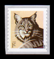 USA, 2012 Scott #4672, Bobcat, SA Single, 1c,  MNH, VF - Unused Stamps