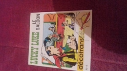 Mini Livre Avec Decalcomanie  Decotrans 4 Lucky Luke Le Saloon - Lucky Luke
