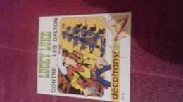 Mini Livre Avec Decalcomanie  Decotrans 6 Lucky Luke Contre Les Dalton - Lucky Luke